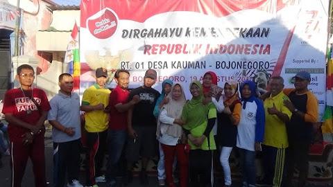 Agustusan Jalan Sehat RT..01 Desa Kauman Bojonegoro 2018