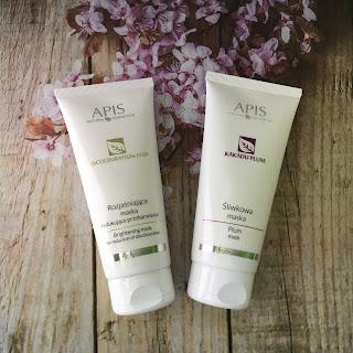 Maseczki APIS Natural Cosmetics, rozjaśniająca i śliwkowa.