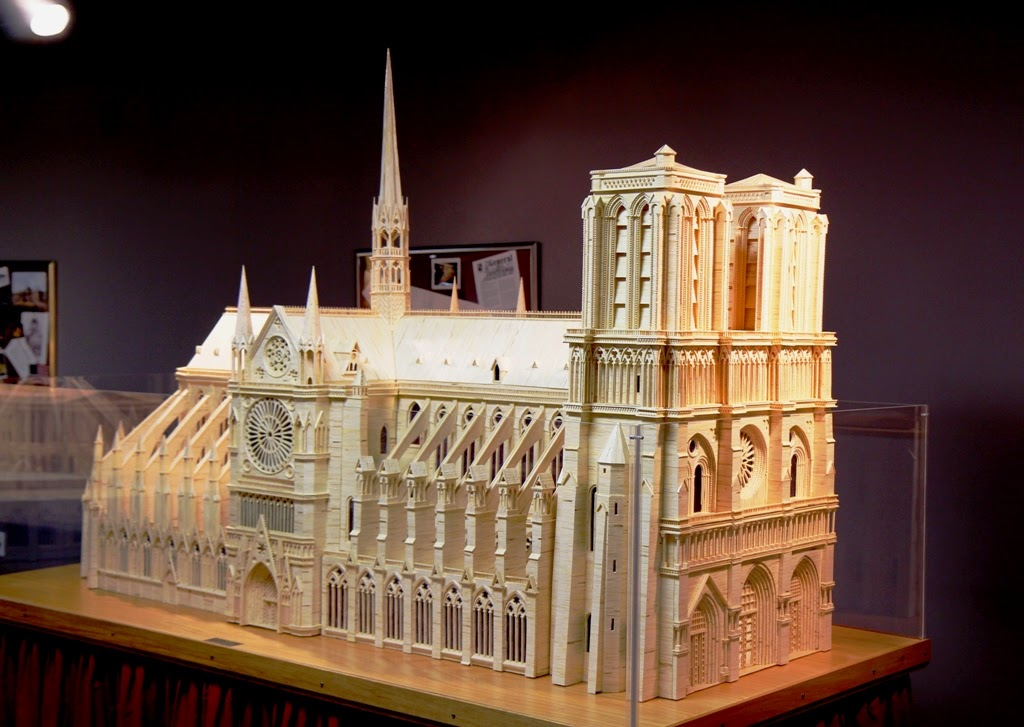 10-Notre-Dame-Cathedral-Patrick-Acton-The-Matchmaker-Matchsticks Sculptures-www-designstack-co