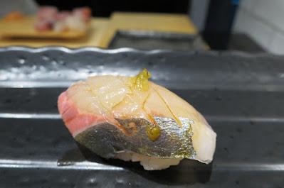 Ryo Sushi, shima aji shoyu yuzu pepper