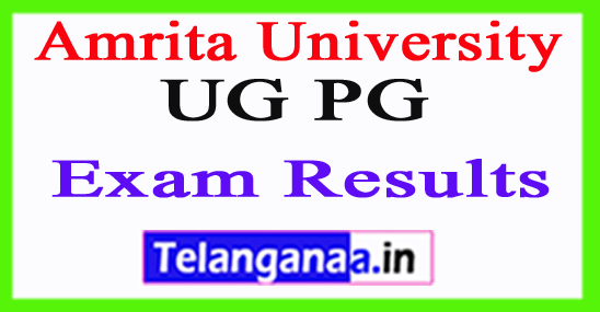 Amrita University Exam Results 2018