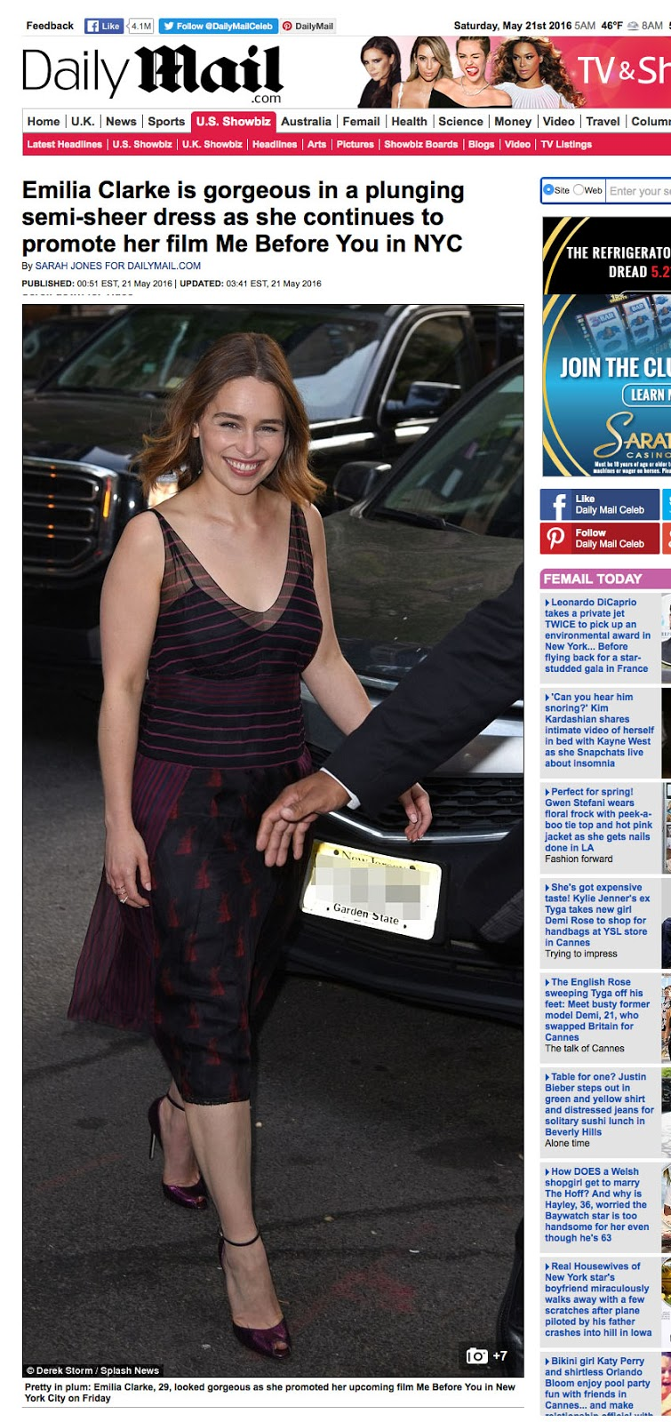 In the News: Emilia Clarke in the UK Daily Mail