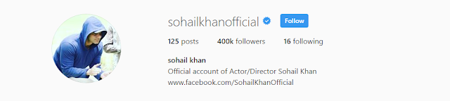 Sohail Khan instagram