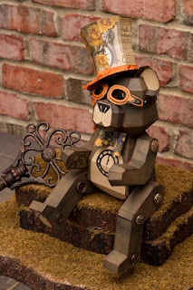 3d paper steampunk teddy bear