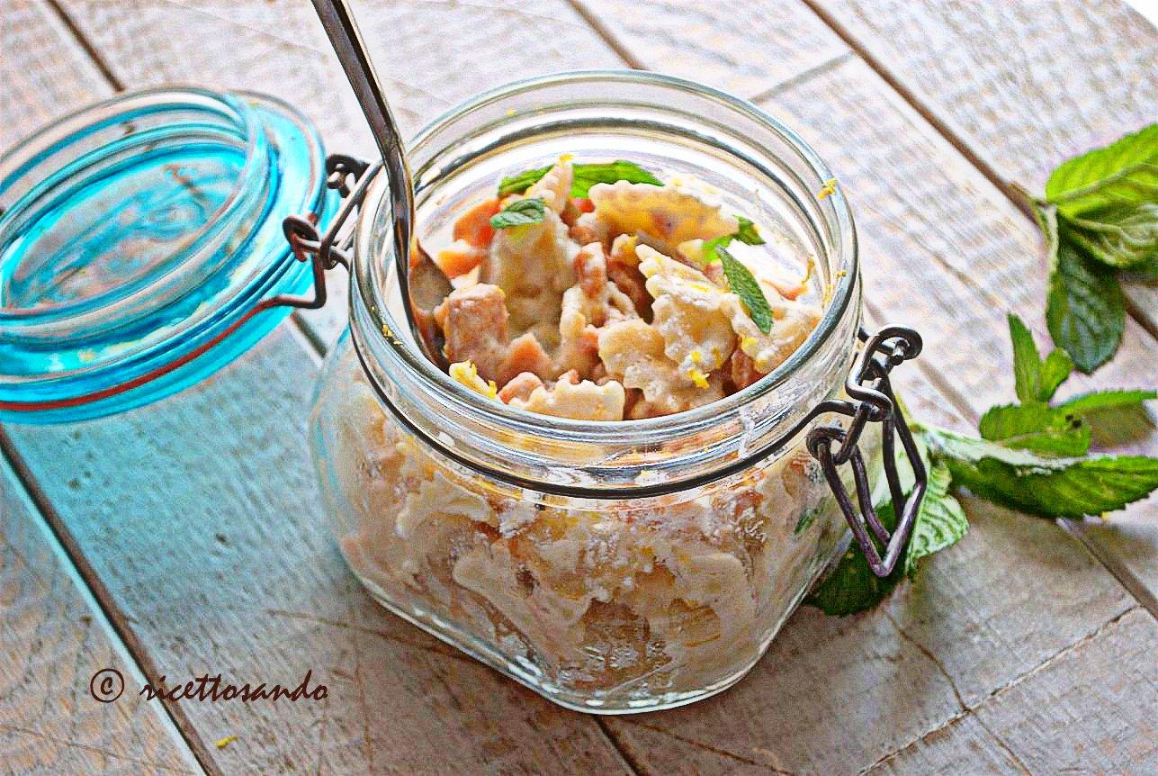 Pasta light ricotta salmone con limone e menta ricetta primi piatti
