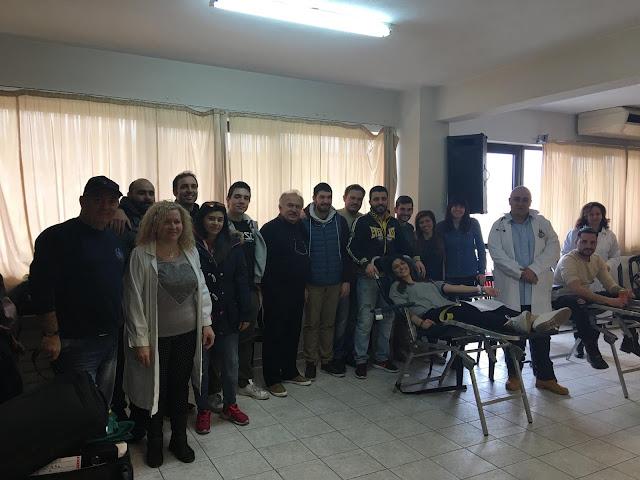 Με επιτυχία ολοκληρώθηκε η 13η εθελοντική αιμοδοσία της Ένωσης Ποντιακής Νεολαίας Αττικής