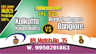 RCB vs KKR IPL 2019 35th Match Prediction Today Who Will Win