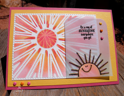 ODBD Sunshine Bundle: Sunshine Blessings, Hello Sunshine, ODBD Custom Starburst Background Die, ODBD Customer Card of the Day Created by Jennifer aka mother's daughter