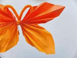 Cara Membuat Kerajinan Tangan Sederhana, Kupu-kupu Kertas 3
