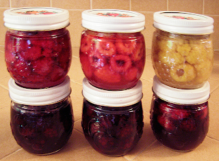 Six Jars of Assorted Berries