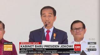 Jokowi Umumkan Reshuffle Kabinet