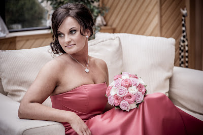 Glamourous bridesmaid