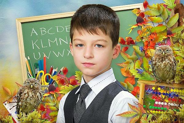 PSD фотошаблоны и коллажи, оформление фотографий: Детский ...