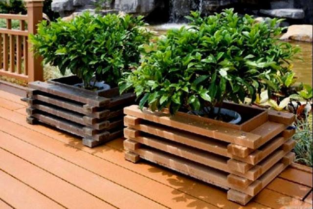 Große Pflanzkübel Für Draußen Holz
