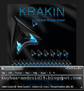 KUMPULAN POINTER CURSOR WINDOWS 7 COOL