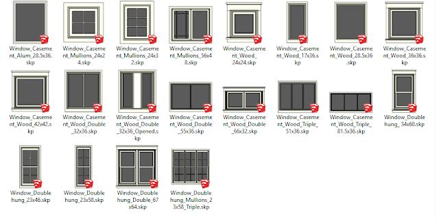 download 3d komponen sketchup geratis