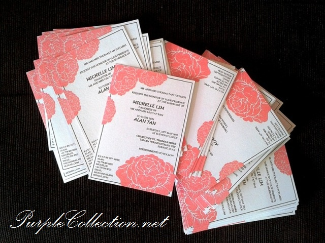 Red Rose Wedding Invitation Card, Red Rose, Red, Rose, Wedding, Wedding Invitation Card, Invitation Card, Card, Michelle Lim, Alan Tan, Lovely