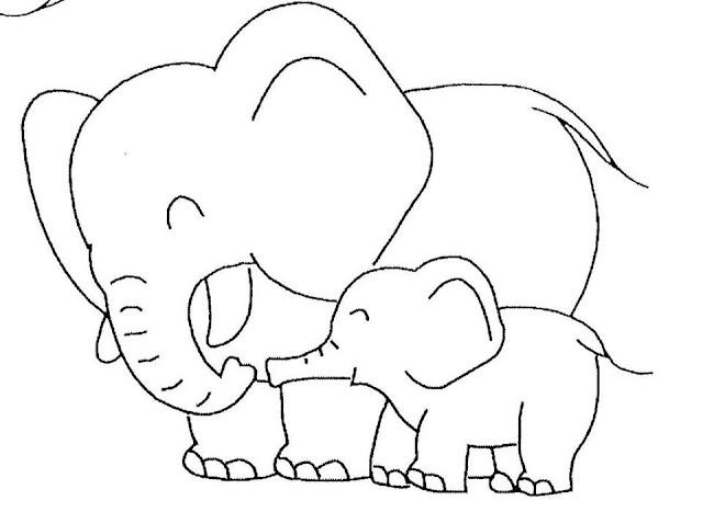 Download mewarnai gambar Hewan buas gajah