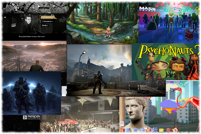 Collage of screenshots for games being released in 2019