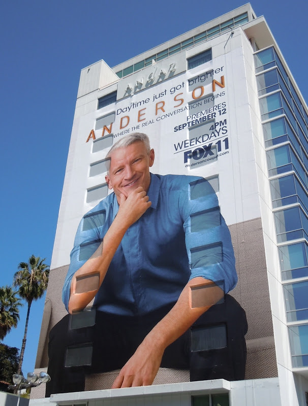 Anderson Cooper billboard Sunset Strip