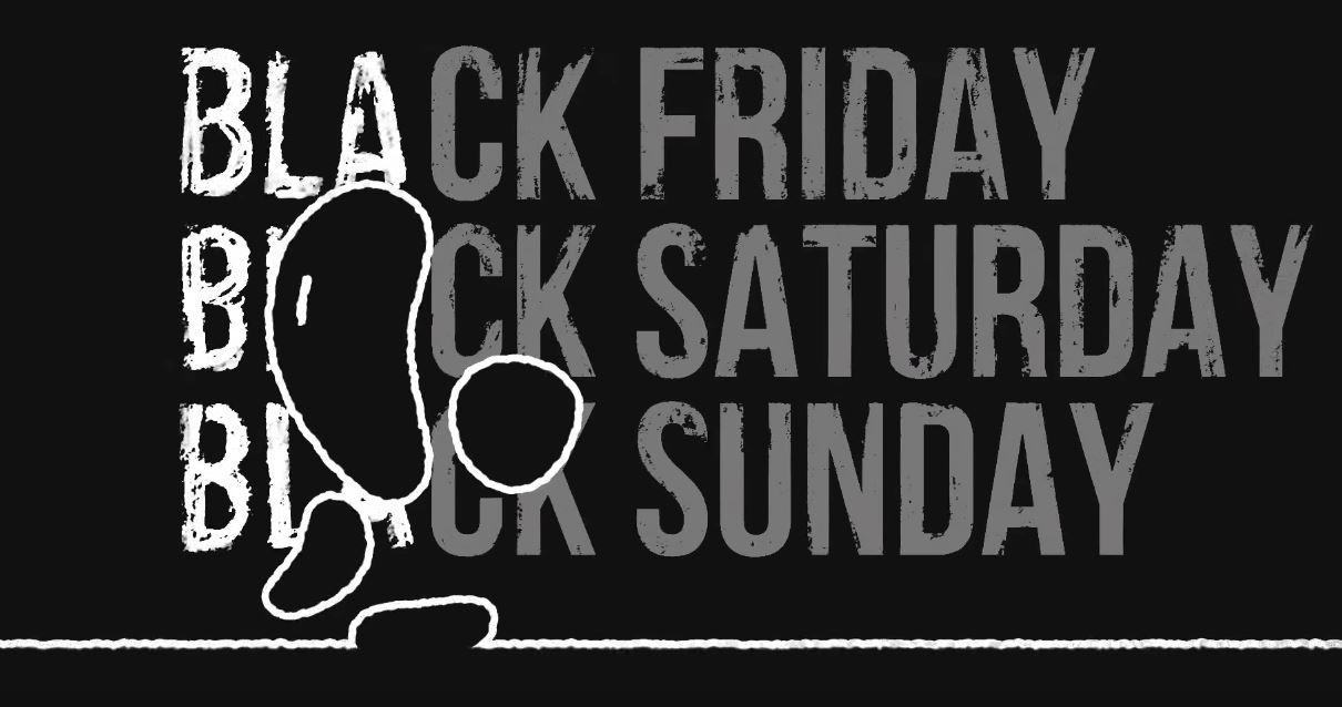 Canzone Unieuro pubblicità sconti Black Friday 2016, omino nero e Bla Bla Bla