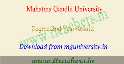 MGU degree 3rd sem result 2018, MG University 2nd year results
