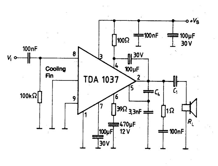 tda7294 power audio circuit diagram