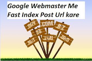 Google Webmaster Me Fast Index Post Url kare
