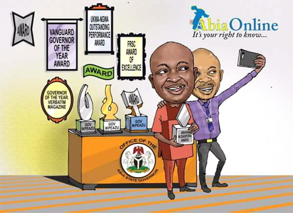 The Selfie Of My Governor's Myriads Of Awards   ...Why I Keep Celebrating My Boss – Ikpeazu's Aide