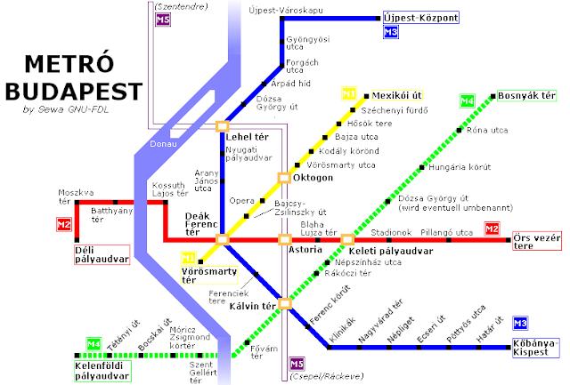 lineas metro de budapest