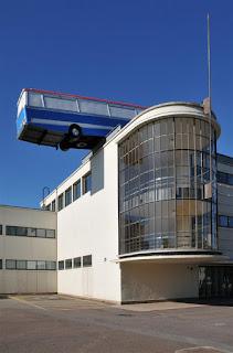 Tolle Dachterrasse-Coach Kunstinstallation