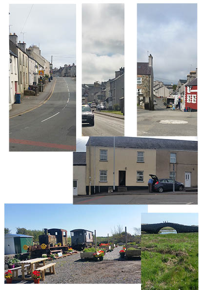 More or less the centre of Anglesey, tractors and cars in abundance. No.16 is also the bus stop