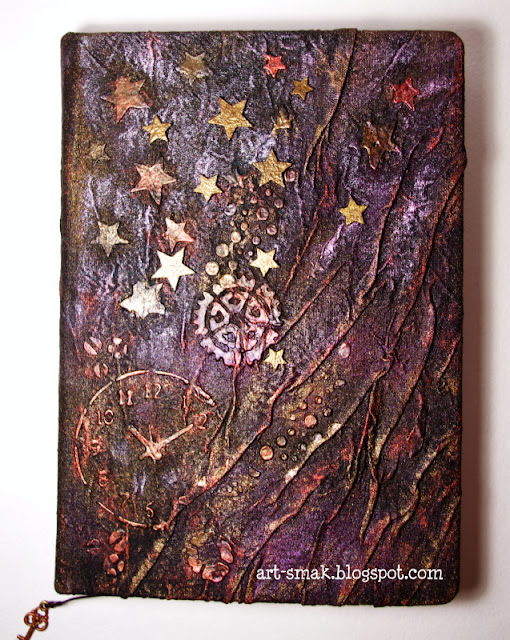 mixed media diary cover
