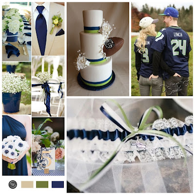 Seattle Seahawks Wedding Inspiration by Sugarplum Garters