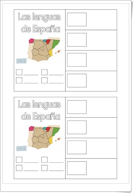 """""""Las lenguas de España"""" (Ficha de Primaria)"""