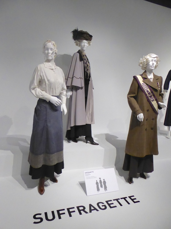 Original Suffragette film costumes