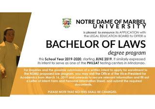 NDMU Bachelor of Laws