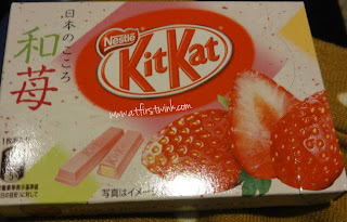 Strawberry Kit Kats in Japan