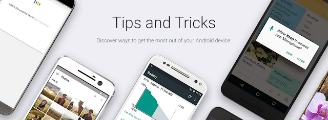 Google Begins an Android Tips and Tricks Minisite