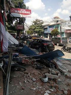 Gempa  lombok hari ini: siang, 09-08-2018
