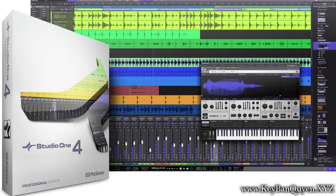 PreSonus Studio One 4 Professional V4.1.1 Full Key Download, Thiết lập phòng thu và xử lý âm thanh đẳng cấp.