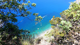 Blue sea at Cinque Terre
