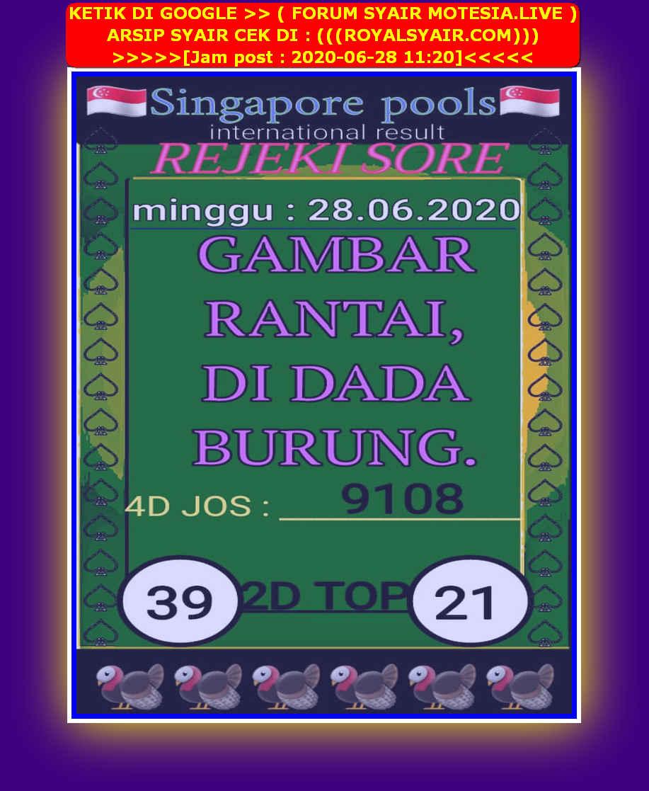 Kode syair Singapore Minggu 28 Juni 2020 43