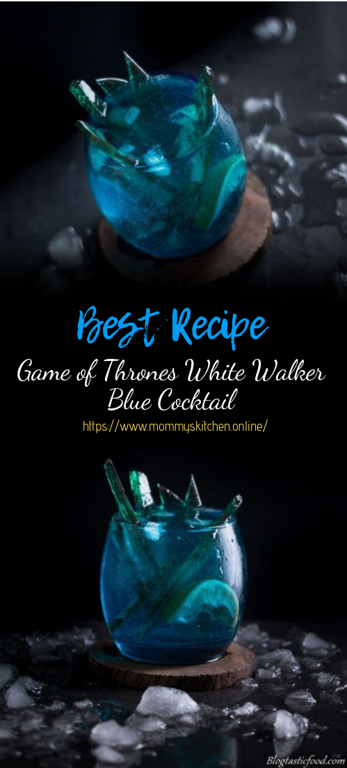 Game of Thrones White Walker Blue Cocktail #cocktail #smoothie