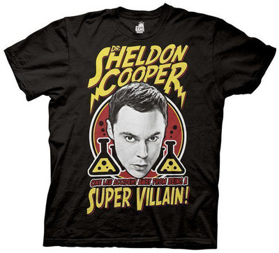 The Big Bang Theory Camiseta Sheldon Villano