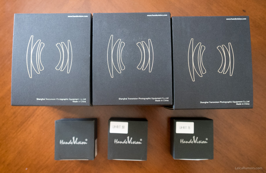 Упаковка объективов Handevision Iberit и бленд для них
