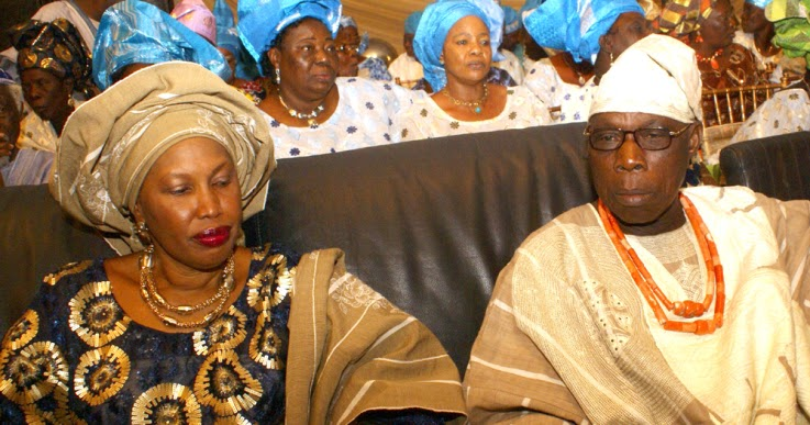 Image result for Olusegun Obasanjo, Mrs Taiwo Obasanjo