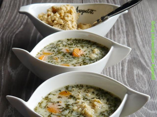 Zupa koperkowa light z lanymi kluseczkami  - Czytaj więcej »