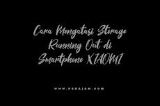 Cara Mengatasi Storage Running Out di Smartphone XIAOMI 100% Work