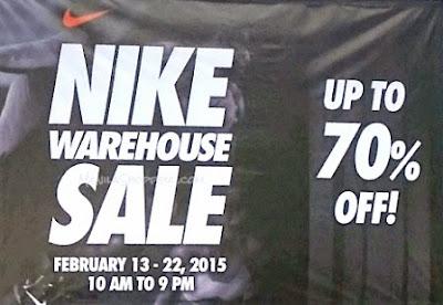 Manila Shopper Nike Warehouse Sale At Agilty Center Paranaque Feb 2015